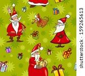 seamless pattern cartoon vector ... | Shutterstock .eps vector #159265613