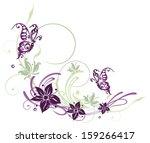 Summer Flowers With Butterflie...