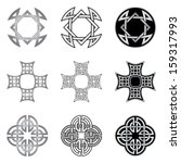 celtic knot patterns and... | Shutterstock .eps vector #159317993