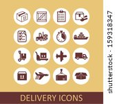 delivery icons for web | Shutterstock .eps vector #159318347