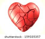 red breaked heart   Shutterstock . vector #159335357