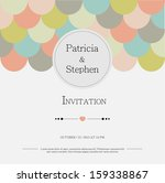 invitation or announcement card | Shutterstock . vector #159338867