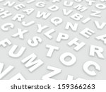 letters of the english alphabet.... | Shutterstock . vector #159366263