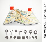 folded abstract city map with... | Shutterstock .eps vector #159396347