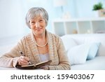 Portrait Of Aged Female With...