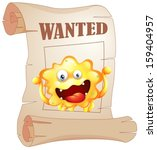 Illustration Of A Wanted...