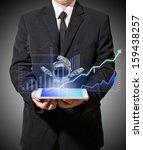 businessman holding digital... | Shutterstock . vector #159438257