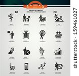 growth concept icons black... | Shutterstock .eps vector #159461027