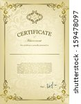 classical certificate with... | Shutterstock .eps vector #159478097
