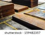 Stacked Rusty Steel Metal Shee...