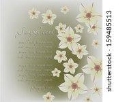 wedding card or beautiful... | Shutterstock .eps vector #159485513