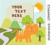 cat in garden with text | Shutterstock .eps vector #159499913