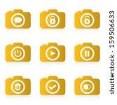 set of camera icon  vector  | Shutterstock .eps vector #159506633