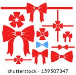 bow. icon set. isolated on... | Shutterstock .eps vector #159507347