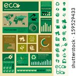 flat infographic elements.... | Shutterstock .eps vector #159529433