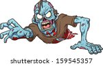 angry,blood,blue,cartoon,character,crawling,guts,illustration,isolated,monster,reaching,scar,vector,zombie