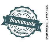 handmade vintage stamp | Shutterstock . vector #159547823