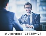 image of young businessman with ... | Shutterstock . vector #159559427