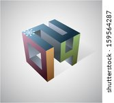 3d graphic design element with... | Shutterstock .eps vector #159564287