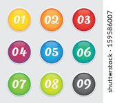 colorful round numbered buttons