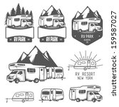 rv and caravan park badges and... | Shutterstock . vector #159587027