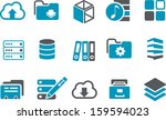 vector icons pack   blue series ... | Shutterstock .eps vector #159594023