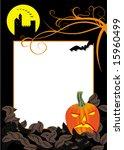 vector halloween background | Shutterstock .eps vector #15960499