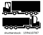 trucks car icons isolated on... | Shutterstock . vector #159610787