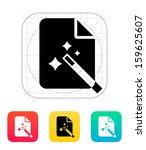 magic file icon. vector...