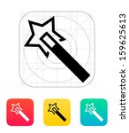 flash magic wand icon. vector...