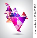 abstract glowing flat...   Shutterstock .eps vector #159629153