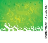 dollar background | Shutterstock .eps vector #159639587