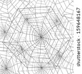 spider web seamless pattern | Shutterstock .eps vector #159648167