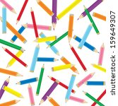 colored pencil background  | Shutterstock .eps vector #159649307