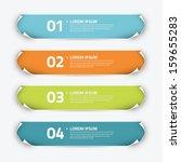 infographic sticker banner... | Shutterstock .eps vector #159655283