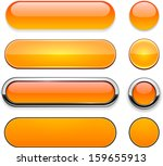 set of blank orange buttons for ... | Shutterstock .eps vector #159655913