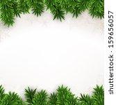 christmas background with fir... | Shutterstock .eps vector #159656057