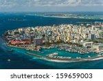 maldivian capital from above | Shutterstock . vector #159659003