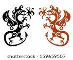 the early viking tattoo in the... | Shutterstock .eps vector #159659507