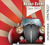 vector retro party brochure... | Shutterstock .eps vector #159678227