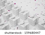 wedding favor boxes | Shutterstock . vector #159680447