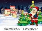 illustration of santa claus... | Shutterstock .eps vector #159720797