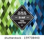 vintage hipster label with... | Shutterstock .eps vector #159738443