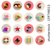 vector set of geometric...