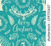 merry christmas white trees... | Shutterstock .eps vector #159751637