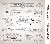 vector set of calligraphic... | Shutterstock .eps vector #159757067