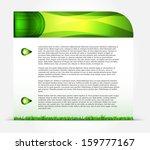 green vector background....   Shutterstock .eps vector #159777167