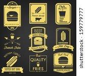 fast food vintage label | Shutterstock .eps vector #159779777