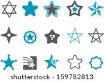 vector icons pack   blue series ... | Shutterstock .eps vector #159782813