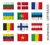 set of flags with titles on the ... | Shutterstock .eps vector #159783203